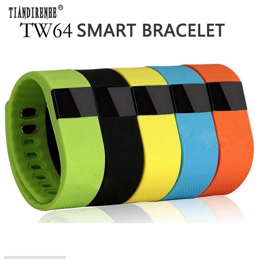 TIANDIRENHE TW64 Fitness Tracker Bluetooth Smartband Sport Bracelet Smart Band Watch Wristband Pedometer For iPhone IOS