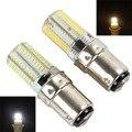 Продажи BA15D 6 Вт 80 Светодиодов 3014 SMD Кукуруза Лампы Белый/Теплый Белый Свет Затемнения Лампы Силикона