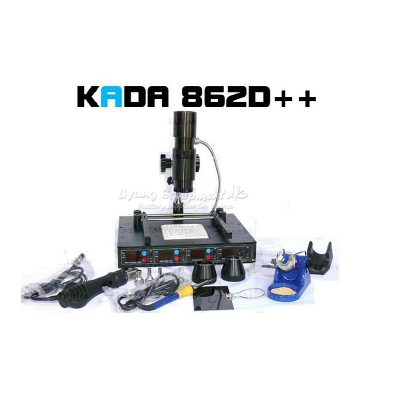 220V 110V KADA 862d++ 4 in 1 full auto IRDA Infrared soldering station BGA rework station|Soldering Stations| |  - title=