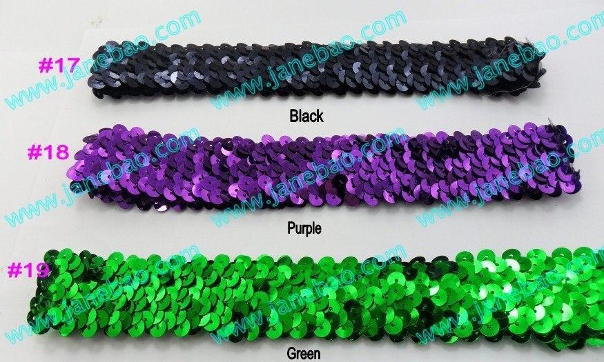 Разноцветные 400 шт. 1 ''повязки на голову с блестками для девочек, эластичная повязка на голову с блестками