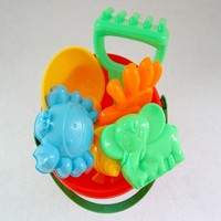 7 Pcs Summer Kids Sandy Beach Toy Sets Dredging Tool Beach Bucket Baby Playing With Sand