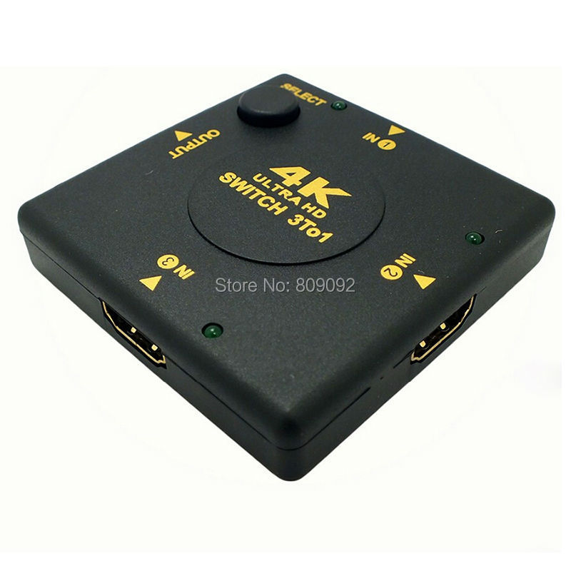 Mini V1.4 3 Port 4K HDMI Switch Switcher HDMI Splitter For PS3/PS4/Xbox 360/PC/DV/DVD HDTV 1080P 4Kx2K 3 Input To 1 Output