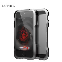 LUPHIE Shockproof Armor Irregularly Aluminum Alloy Metal Screw Bumper Frame Case Cover For Iphone 5 5S