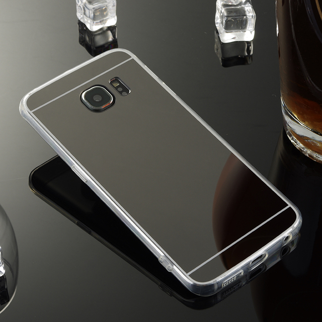 on sale 5026d 1605a US $3.12 33% OFF|For Samsung Galaxy S6 Edge Mirror Case Soft TPU Back Cover  For Samsung galaxy S6 Edge G9250 Cases Cell Phone Shell Accessories-in ...