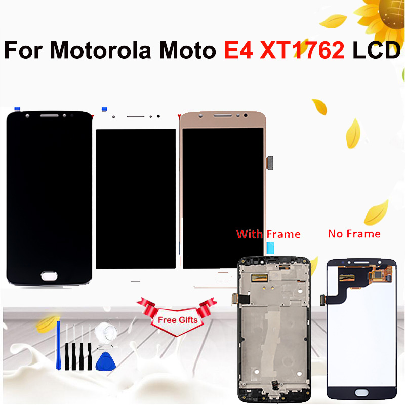 For Motorola Moto E4 <font><b>XT1762</b></font> <font><b>LCD</b></font> Display Touch Screen Digitizer Assembly Replacement For MOTO E4 <font><b>XT1762</b></font> XT1763 Display image