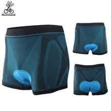 2017 Men Women Cycling Shorts Riding Bike With Gel 3D Sponge Pad High Elastic Underwear MTB Road Size S-2XL