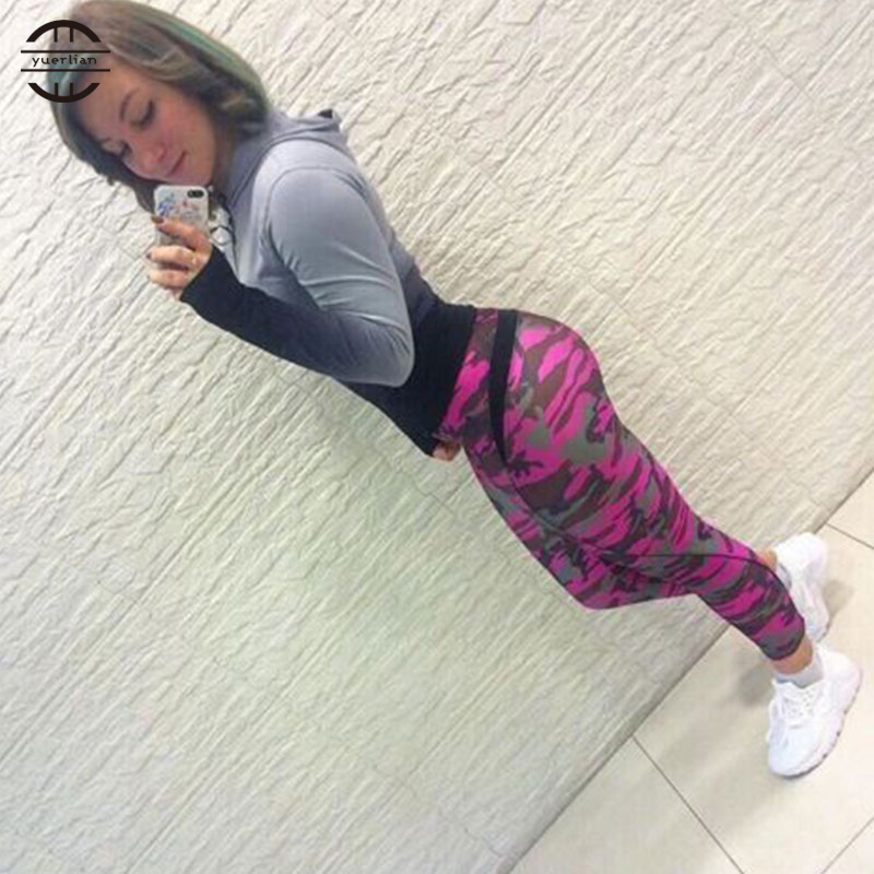 YEL 2017 Girls Gym Long Pants Sports Trousers Skinny Jogger Running Fitness Tight Compression Sexy Women Leggings Plus size