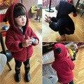 Alta calidad para niño y niñas hijos de invierno chaquetas del bebé cara con capucha cardigan prendas de vestir exteriores y abrigos engrosamiento envío gratis