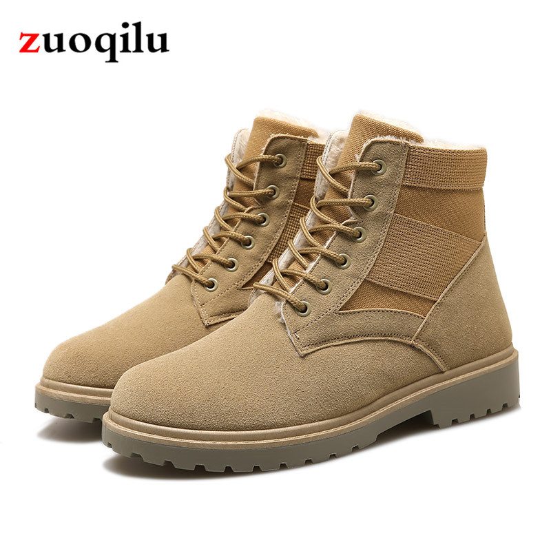 2018 Autumn Winter Men Boots Men's Military Boot Shoes Outdoor Army Ankle Boots Motocycle Botas Army Work Winter Shoes