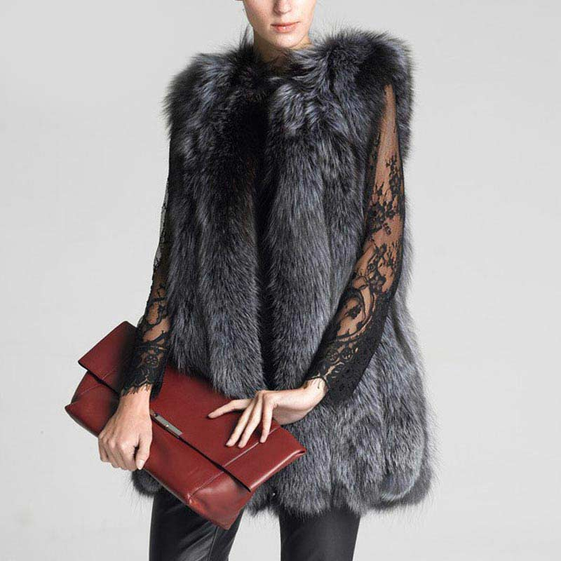 Maternity clothes Fashion pregnancy Women Fox Fur Vest Winter Long Fur Gilet Sleeveless Fur Outerwear Plus Size Fur Coat цена