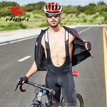 RION strój rowerowy szorty mężczyźni rower 5R wyścielane żelem rajstopy spodnie rowerowe PRO TEAM zawód wyścig Lycra MTB szybkie suche spodenki zjazdowe tanie i dobre opinie NYLON Poliester spandex Jazda na rowerze Pasuje prawda na wymiar weź swój normalny rozmiar Spodenki na szelkach C813006