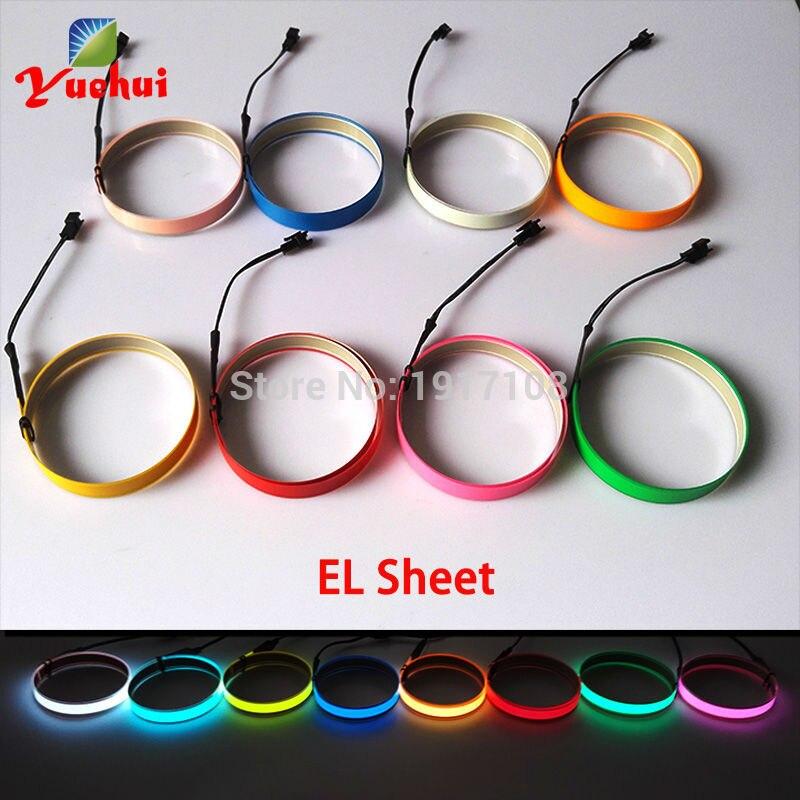 Vruće prodaja 8 boja 1.4X60CM EL vrpca EL žice EL traka za auto, - Za blagdane i zabave - Foto 3