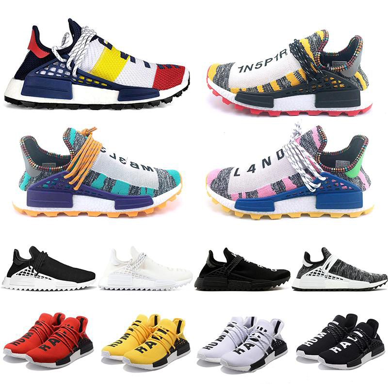Orange Human Race Trail Running Shoes Nerd Black Cream Men Women Pharrell Williams HU Runner Yellow White Sports Runner Sneaker