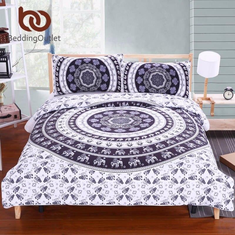 Boheemlaslik voodipesukomplekt elevantidega