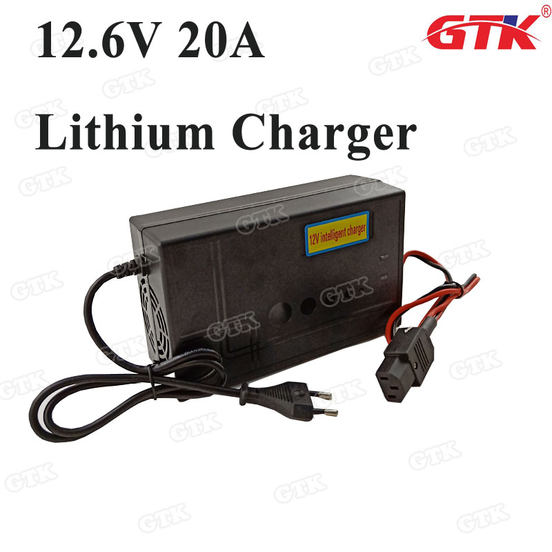 12v 20a Fast Smart Lithium Battery Charger Mute Charging And Fast Charging For 3s 12.6v 20ah 30ah 40ah 50ah 60ah Lithium Battery