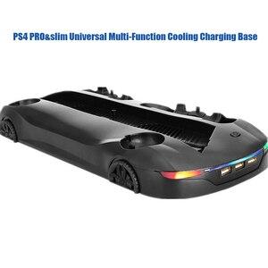 Image 3 - La base universelle multifonctionnelle de support de charge de refroidissement prend en charge le double indicateur LED de charge de double mouvement de poignée pour PS4 PRO et PS4 SLIM