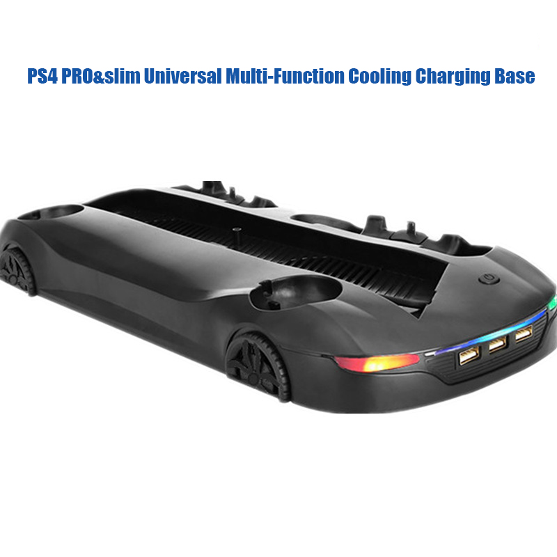 Image 3 - Universal multi function cooling charging stand base supports dual handle dual move charging led indicator for PS4 PRO&PS4 SLIM-in Replacement Parts & Accessories from Consumer Electronics