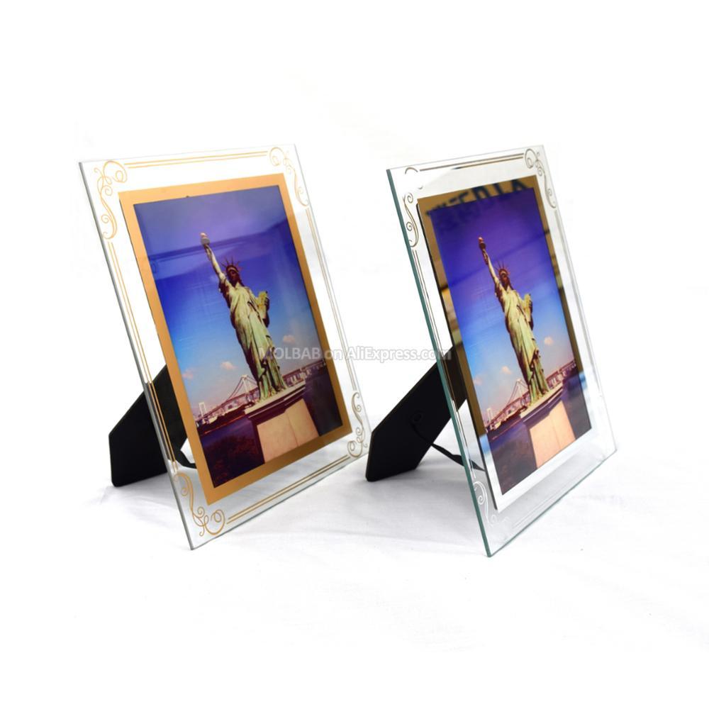 Aliexpress.com : Buy 5/7 Inch Tabletop Glass Photo Frames Gold ...