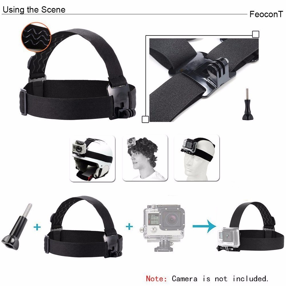 Image 4 - Accessories For Gopro 7 Set 50 1 Kits Selfie Stick Strap Mount Head Chest For GoPro Hero7 Black 6 5 Case Yi 4K Sjcam Large Box-in Sports Camcorder Cases from Consumer Electronics