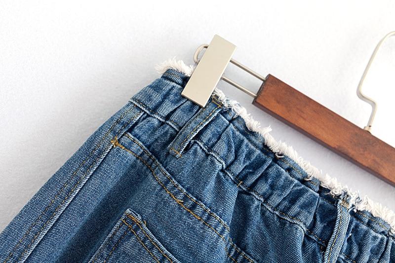 F42 Autumn Winter Plus Size Women Clothing Ankle-length Jeans 4XL Casual Fashion Loose Denim wide leg Pants 8048 18