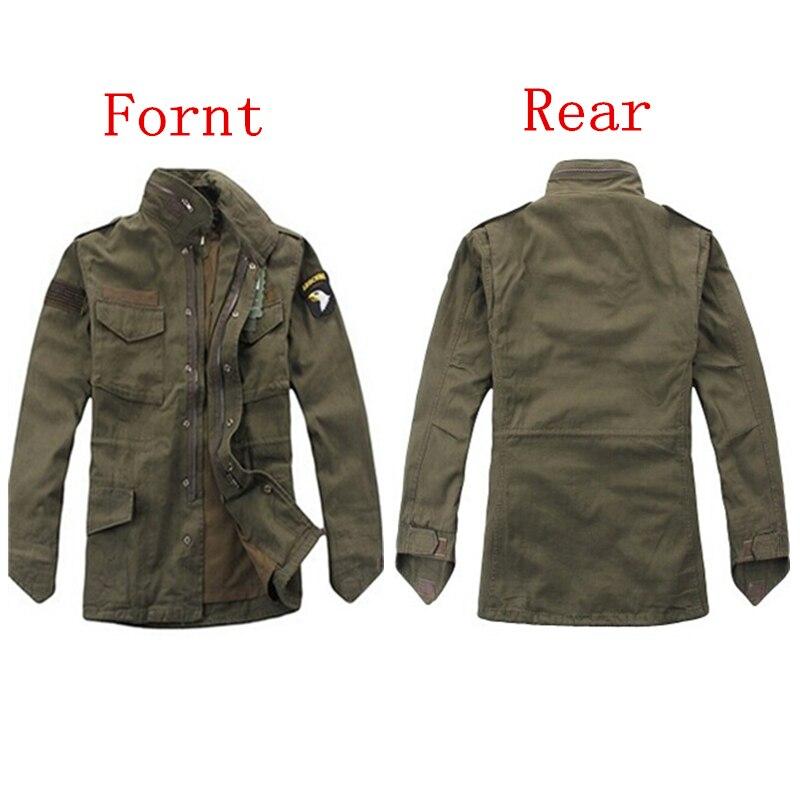 Военно-тактические куртки для мужчин вентиляторы армии Открытый M65 ветровка съемный вкладыш 101st дивизии