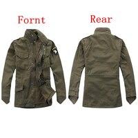Jaqueta tática militar para os fãs do exército ao ar livre m65 blusão jaqueta removível forro 101st divisão aerotransportada