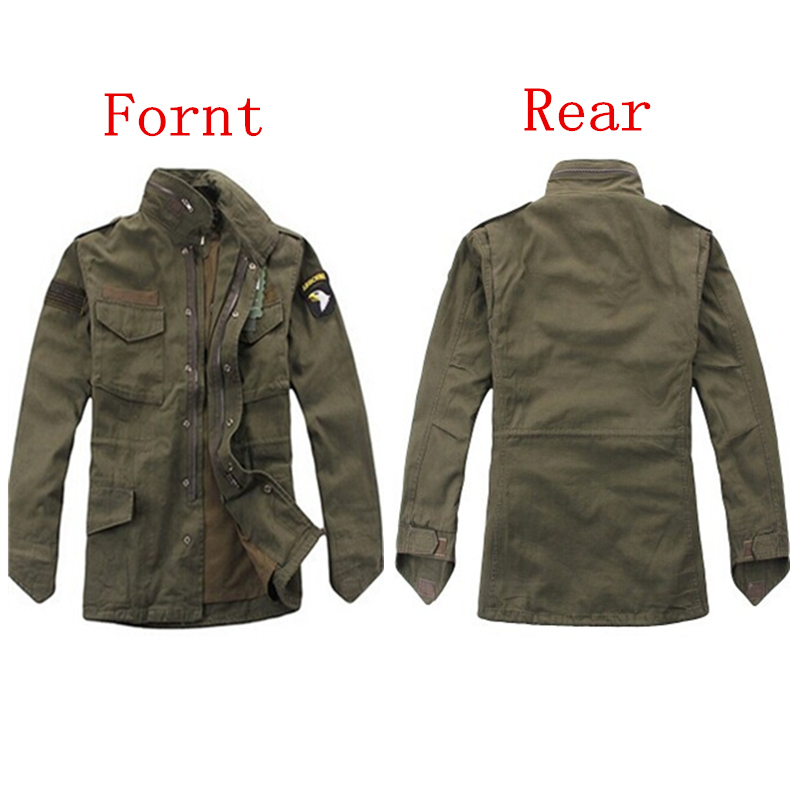 military tactical jacket for men Army fans outdoor M65 windbreaker jacket removable liner 101st Airborne Division airborne pollen allergy