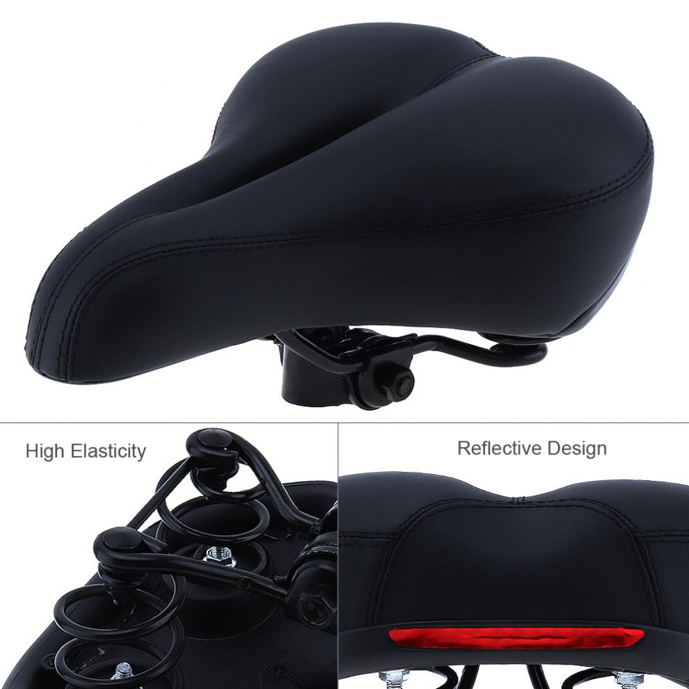 Super Soft High Resilience Cycling Bike Saddle Road Mountain Bicycle Seat with Reflective Belt resilience in cambodia