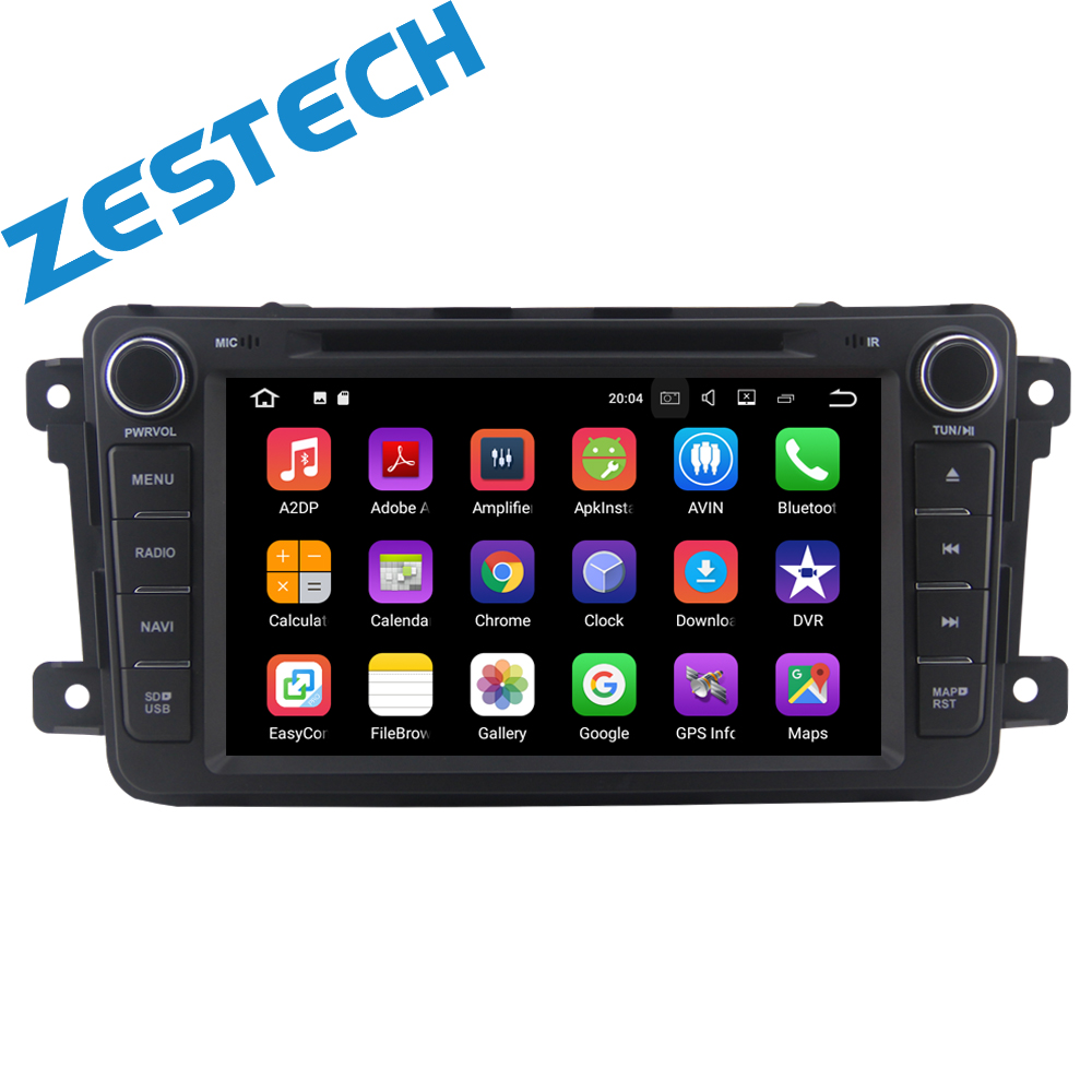 touch screen Car radio gps dvd player for Mazda android 1 din car headunit multimedia support 4g wifi steering wheel
