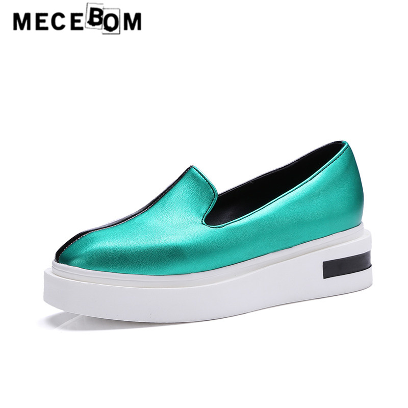 Women loafers fashion mixed color platform shoes slip-on flats ladies shoes golden sapato feminino 9675w hot 2017 new fashion womens weave shoes spring summer mixed color breathable casual shoes flats slip on loafers tenis feminino