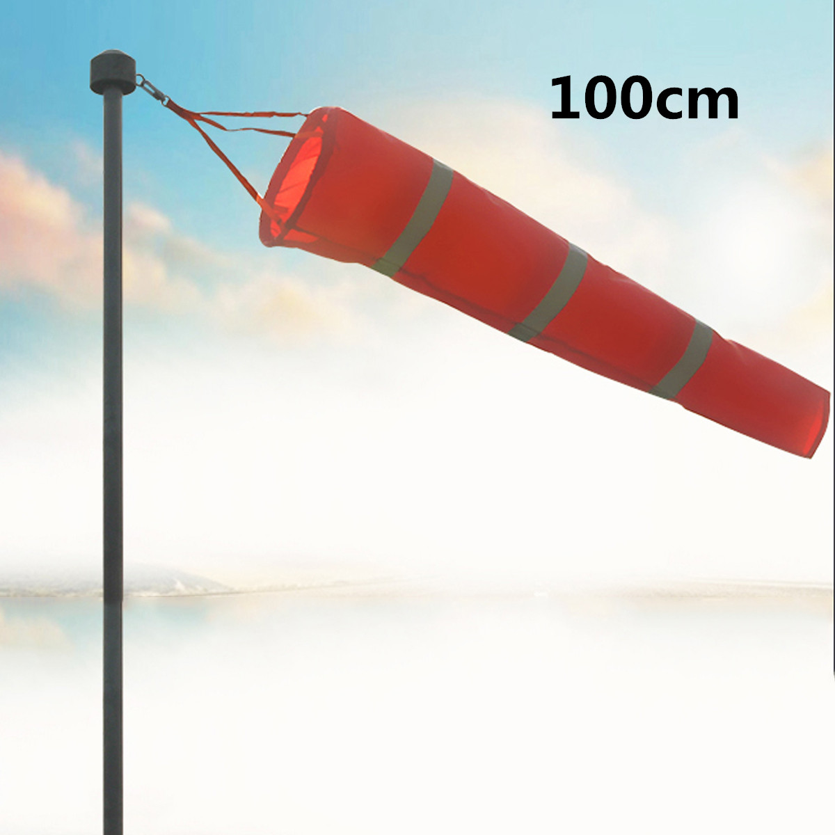 LBLA 100cm Aviation Windsock Rip-stop Wind Measurement Sock Bag Reflective Belt Wind Monitoring Outdoor Toy IndicatorLBLA 100cm Aviation Windsock Rip-stop Wind Measurement Sock Bag Reflective Belt Wind Monitoring Outdoor Toy Indicator