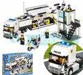 Comisaría 511 unids 6727 diy monifigures policía truck kazi building block juguetes de aprendizaje y educación leping bringuedos