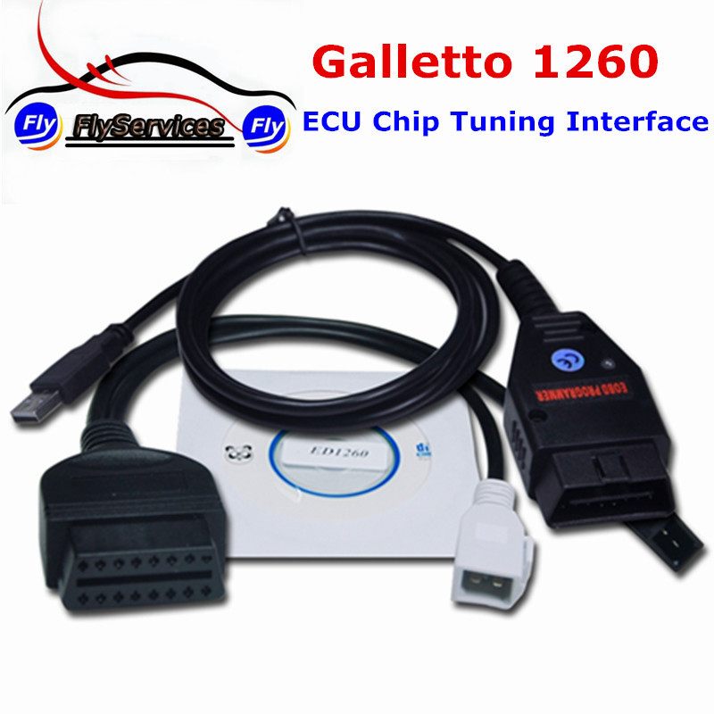 Prix pour EOBD Tuning Outils Galleto 1260 EOBD2 Diagnostic Interface Galletto 1260 Interface Avec Multi Langues