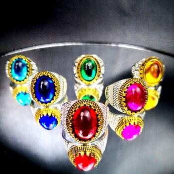 100Pcs Women Rings / Men Ring Lots Fashion Colored Crystal Jewelry Wholesale Accessories Bulks Big Packs RL4172