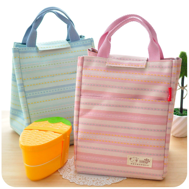 Free Shipping!  cute lunch bags small bag double layer cloth insulation boxes package Insulated lunchbox F647
