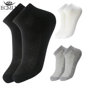 87a22e29fc9 ECMLN 10pair 20Pcs lot Cotton Men black white Short Sock
