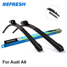 REFRESH Wiper Blades for Audi A6 C5 / C6 / C7 Fit Hook / Slider / Claw / Push Button Arms Model Year from 1997 to 2017(China)