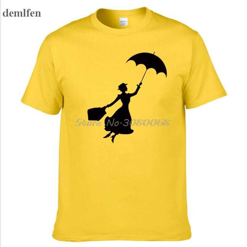 新しいメアリーポピンズファッション男性のtシャツ面白いメンズtシャツカジュアル半袖oネック綿プリントtシャツtシャツトップス