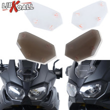 For Honda CRF1000L Africa Twin 2016-2019 Motorcycle Accessories Front Headlight Screen Cover Shield Guard Lens Protector Clear