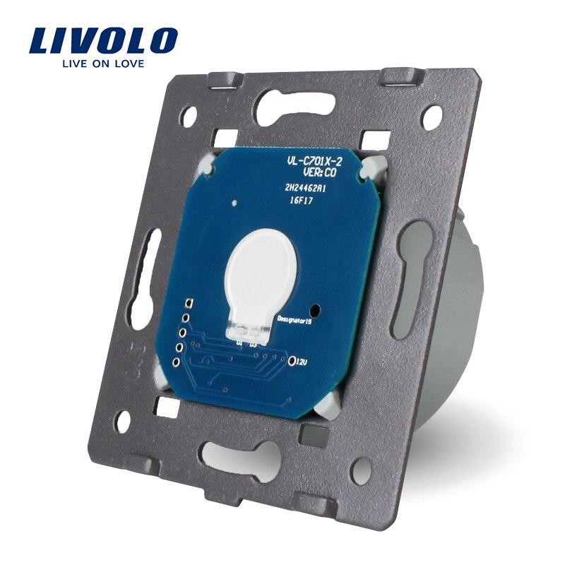 Livolo la Base de pantalla táctil interruptor de la luz de la pared envío libre, estándar de la UE, AC 220 ~ 250 V, VL-C701