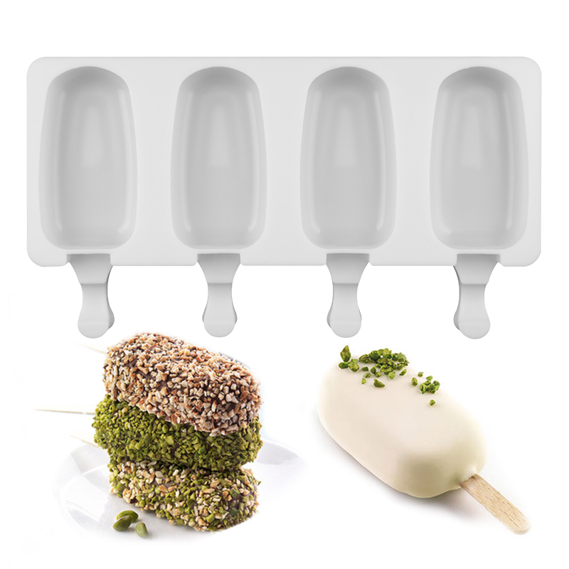 SJ 4 силиконовые полости для заморозки мороженого candy bar инструмент для изготовления сока лоток для мороженого на палочке Дети Поп-производит...