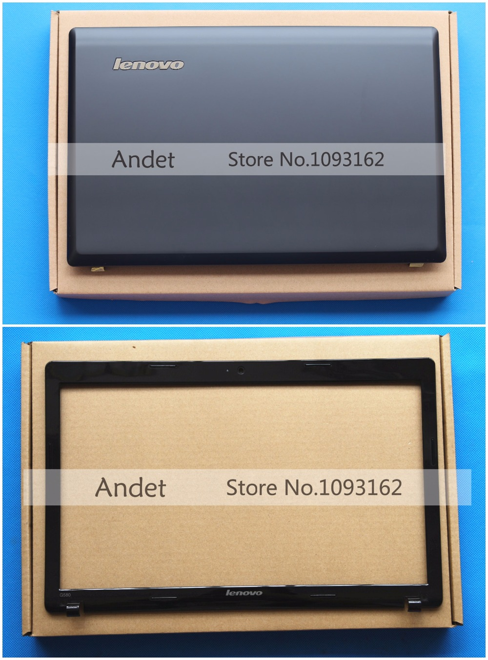 New Original G580 G585 Lcd Rear Lid Back Cover Top Shell Lcd Front Bezel Cover for