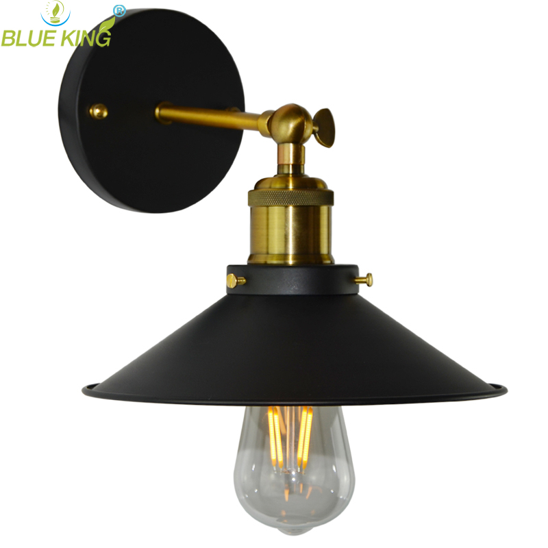Loft Industrial Vintage Wall Light Finish Perfect Painting Antique Iron Edison Bulb Wall Lamps For living room bar 2013 antique outdoor lighting for wall decerative wall light with edison light bulb vintage wall lamps