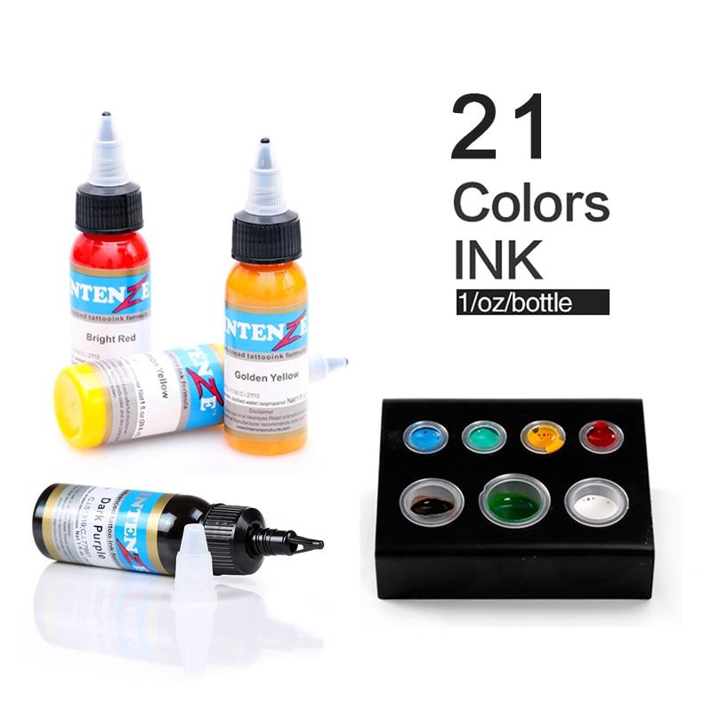 PräZise 21 Farbe Set Tattoo Tinte Pigmento Microblading Permanent Make-up Kunst Boay Farbe Farbe Kosmetische Tattoo Farbe Für Schönheit Körper Kunst Lange Lebensdauer