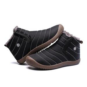 Image 5 - Super Warm Winter Men Boots Waterproof Super Quality Snow Boots Men Warm Winter Shoes Mens Ankle Boots Fur Botas Hombre