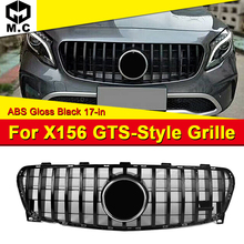 X156 GLA45 look Sport grille ABS Black Without Sign grills Fits For MercedesMB GLA180 GLA200 GLA220 GLA250 Front Grille 2017-in