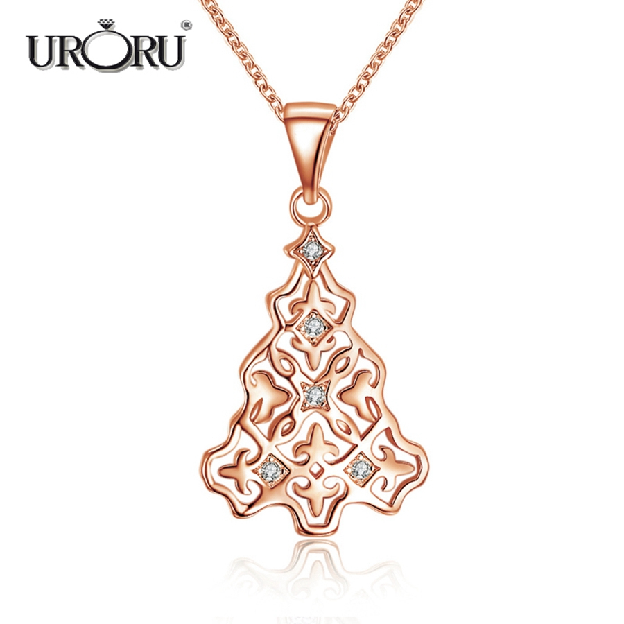 URORU Necklace, Fashion Mysterious Cute Silver Pendant Necklace for Women Vintage Jewerly Christmas Gift