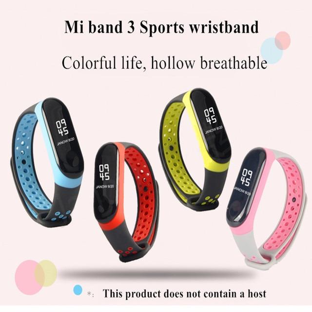 Mi Band 3 4 strap sport Silicone watch wrist Bracelet miband3 strap accessories bracelet smart for Xiaomi mi band 3 4 strap 1