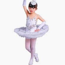 Professionale Balletto Tutu Pancake Bambini Bianco Lago Dei Cigni Balletto Costume Kidsgirls Piuma Ballerine Tutu Gonne