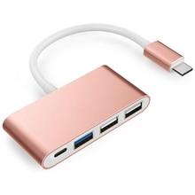 USB-C Hub Adapte Type C USB 3.0/ USB 2.0 Ports 4-in-1 Multi-Port Charging Connecting Adapter for Apple/MacBook Pro 2016 Lenovo